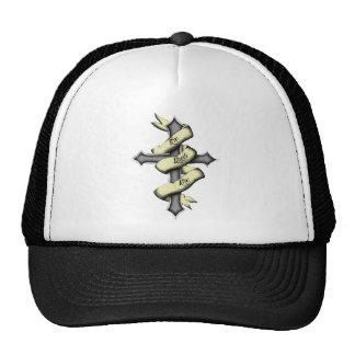 cross-w-color trucker hat
