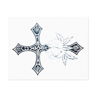 Cross wall art gallery wrap canvas