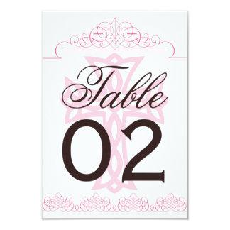 Cross Wedding Table Numbers Card