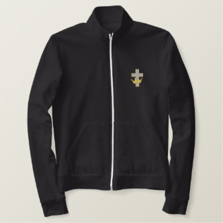 Cross with Crown Embroidered Jacket