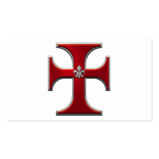 Cross with fleur-de-lis – Red Pack Of Standard Business Cards