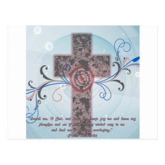Cross with Scripture Postcard
