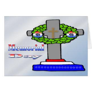 Cross & Wreath -  Memorial Day Card