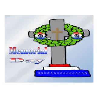 Cross & Wreath -  Memorial Day Postcard