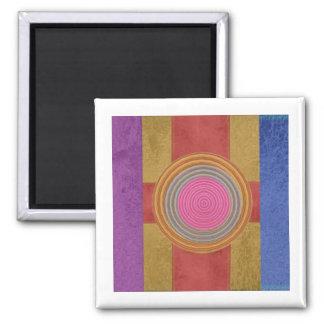 CROSS Your Heart - Art101 Simple Blocks n Circles Square Magnet