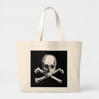 Crossbones Tote Bags