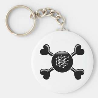 Crossbones Materials Science Basic Round Button Key Ring