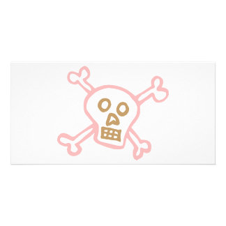 Crossbones Personalized Photo Card