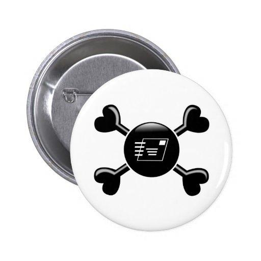 Crossbones Postal Service Pins