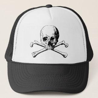 Crossbones skull trucker hat