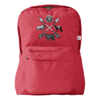 Crossed Arrows And Wildlife Backpack