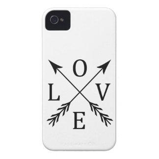 Crossed Arrows Love Design iPhone 4 Cover
