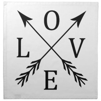 Crossed Arrows Love Design Napkin
