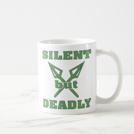Crossed Arrows Silent But Deadly 6 Mugs