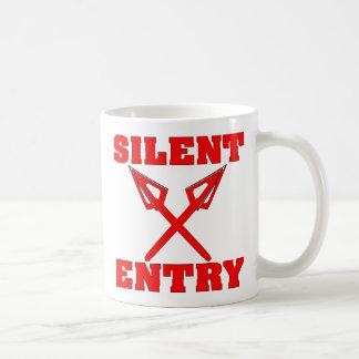 Crossed Arrows Silent Entry Mugs