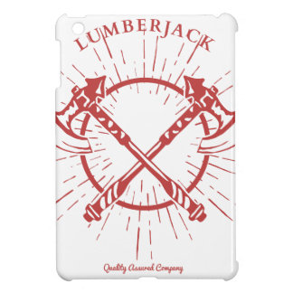Crossed Axes Lumberjack Graphic Tee Cover For The iPad Mini
