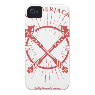 Crossed Axes Lumberjack Graphic Tee iPhone 4 Case-Mate Case