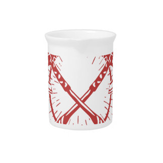 Crossed Axes Lumberjack Graphic Tee Pitcher