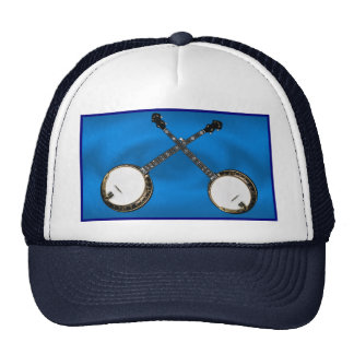 CROSSED BANJOS -HAT CAP