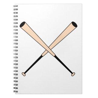 Crossed Baseball Bats Notebook