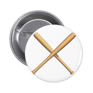 Crossed Baseball Bats Pins