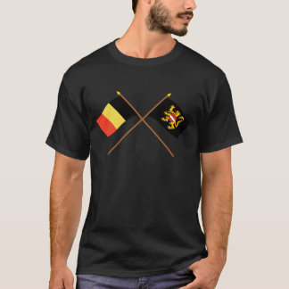 Crossed Belgium and Flemish Brabant Flags T-Shirt