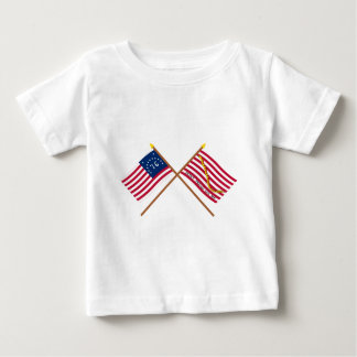 Crossed Bennington Flag and Navy Jack T Shirts