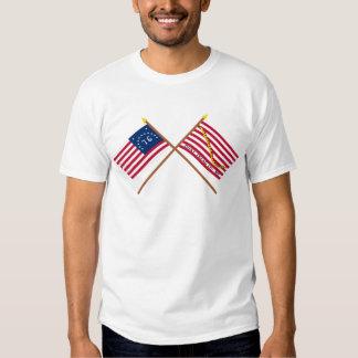 Crossed Bennington Flag and Navy Jack Tshirt