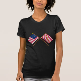 Crossed Bennington Flag and Navy Jack T-shirt