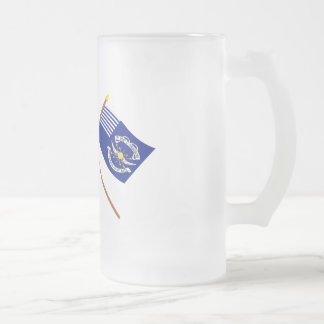 Crossed Betsy Ross and 2nd Regiment Light Dragoons Coffee Mug