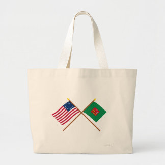 Crossed Betsy Ross and First Pennsylvania Regiment Bag