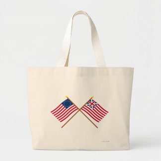 Crossed Betsy Ross and Grand Union Flags Bag