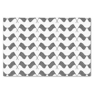 Crossed Checkered Flags Tissue Paper