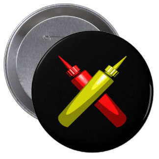 Crossed Condiments Pinback Button