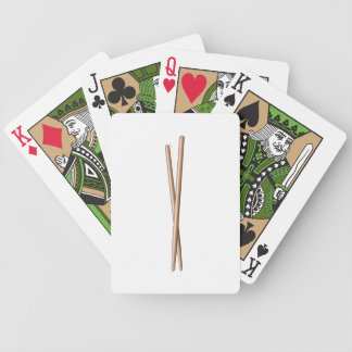 Crossed Drumsticks for Drummers Playing Cards Deck