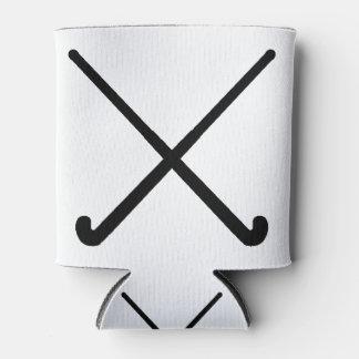 Crossed Field Hockey Sticks in Silhouette