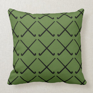 Crossed Field Hockey Sticks Patterned Throw Pillow