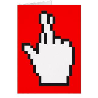 Crossed Fingers Cursor Greeting Card