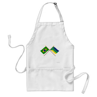Crossed Flags of Brazil and Amapá Standard Apron