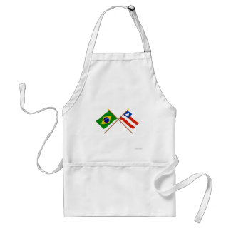 Crossed Flags of Brazil and Bahia Standard Apron