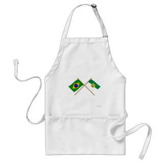 Crossed Flags of Brazil and Rio Grande do Norte Standard Apron