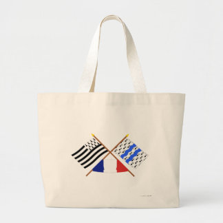 Crossed flags of Bretagne and Ille-et-Vilaine Bags