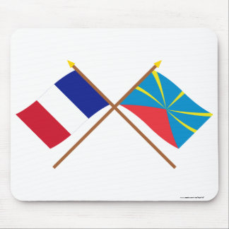 Crossed flags of France and Réunion (Proposed) Mouse Pad