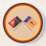 Crossed flags of PNG and New Ireland Province