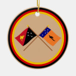 Crossed flags of PNG and New Ireland Province Ornament