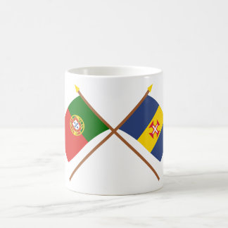 Crossed Flags of Portugal and Madeira Basic White Mug