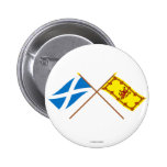 Crossed Flags of Scotland 6 Cm Round Badge
