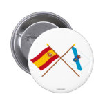 Crossed flags of Spain and Galicia Pins