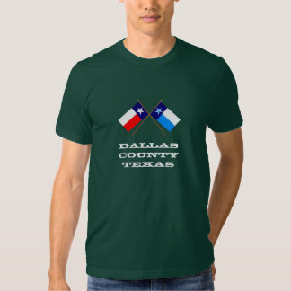 Crossed Flags of Texas and Dallas County Tee Shirt