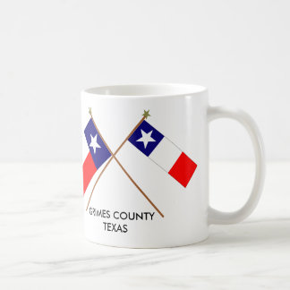 Crossed Flags of Texas and Grimes County Coffee Mug
